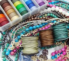 How to make bracelets Fiber, Leather, and Beads..great blog here! how nice of her to share,don't kno why but that always surprises me :)