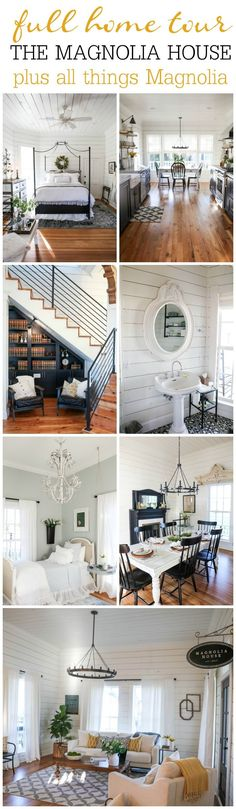 "New home decorating inspiration- Full Home Tour of the Magnolia House plus all the info about Waco and how to get the full ""Magnolia Experience"". Magnolia Home Decor, Magnolia Homes, Magnolia Farms, Fixer Upper, Georgia Homes, Family Room Design, Layout, The Ranch, New Room"