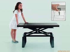 Adjustable Height Dining Tables | ... Coffee Table With Adjustable Height  Through Mecanism With