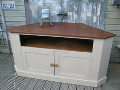 Shabby Chic Tv Corner Cabinet, Annie Sloan, Extra Large