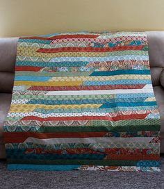 Jelly Roll Race Quilt Top