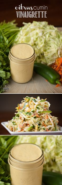 This fresh and healthy Citrus Cumin Vinaigrette takes only minutes to make and is an outstanding dressing to any Mexican coleslaw or salad.