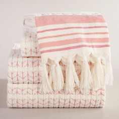 One of my favorite discoveries at WorldMarket.com: Coral Riley Sculpted Towel Collection