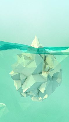 Folded geometric iceberg illustration