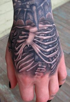 Is this the postmodern way of wearing  your heart on your sleeve....by wearing your ribcage on your hand?  Where is your heart?