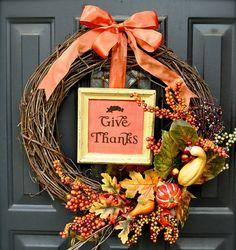 7 DIY Thanksgiving Wreaths