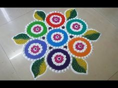 New year rangoli design by DEEPIKA PANT - YouTube