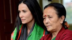 Demi Moore partners with CNN Freedom Project..A passionate advocate for victims of human trafficking herself, Moore travels to Nepal to meet Anuradha Koirala and some of the thousands of women and girls Koirala's organization has rescued from forced prostitution.