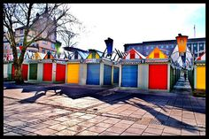 Norwich market place... a colourful addition to Norwich and right next to the School! :)