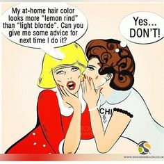 Who are you going to trust the faith of your hair to.. Your stylist, or a box?