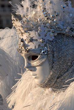 Masquerade monochrome with textures