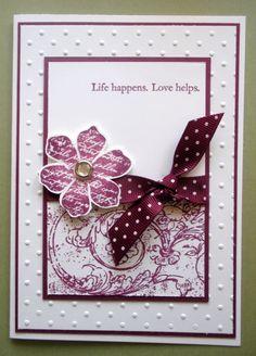 Handmade Card ... Blog - EnchantINK ... Stampin' Up! - Vintage Vogue, Very Vintage wheel stamp