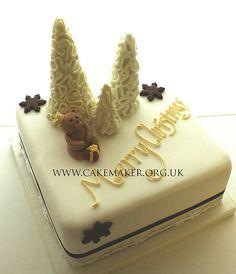 beartree xmas cake by Jill The Cakemaker, via Flickr