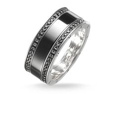 THOMAS SABO Ring aus der Sterling Silver Kollektion. Ring - 925er Sterlingsilber, geschwärzt - Zirkonia schwarz, Keramik schwarz Breite: ca. 0,9 cm Das grafische Design des COOL CERAMICS Rings vereint das klassische Funkeln schwarzen Zirkonia-Pavés und die glanzvolle Optik hochwertiger Keramik. Besonders elegant erstrahlt der Ring aus geschwärztem 925er Sterlingsilber kombiniert mit den THOMAS SABO Keramikuhren.
