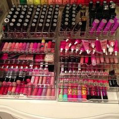 Yall think Im crazy for having so much. This is JUST her lip colors, lol. - Jen D Like, Comment, Repin !!
