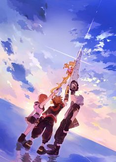 Sora,Kairi y Riku Manga Anime, Cry Anime, Anime Art, Kingdom Hearts Funny, Kingdom Hearts Fanart, Kingdom Hearts Wallpaper, Kindom Hearts, Studios, Girls Anime