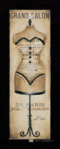 Grand Salon No. 372 ~ Fine-Art Print - Vintage Fashion Art Prints and Posters - Vintage Advertisements Pictures Vintage Labels, Vintage Ephemera, Vintage Cards, Shabby Vintage, Vintage Sewing, Frames For Canvas Paintings, Canvas Art, Vintage Prints, Vintage Posters