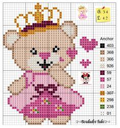 Baby Cross Stitch Patterns, Cross Stitch Baby, Cross Stitch Animals, Counted Cross Stitch Kits, Cross Stitch Designs, Cross Stitch Embroidery, Cross Stitching, Cross Stitch Beginner, Pixel Crochet