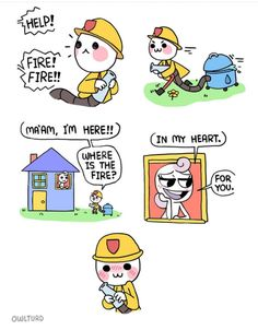 Continuation to Firefighter comic