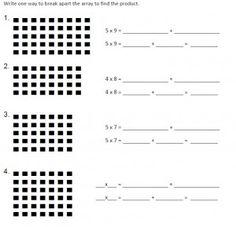 math worksheet : teaching distributive property using an area model great freebies  : Math Worksheets Distributive Property