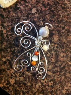 Wire Wrap Angel Ornament Christmas Decoration by KrystalzKreations