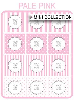 INSTANT DOWNLOADS of free Baby Shower Printable Templates in pink stripes & polkadots! Personalize them easily at home using Adobe Reader. Download Now!
