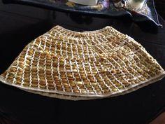 Poncho original tipo pañal a crochet y lana artesanía