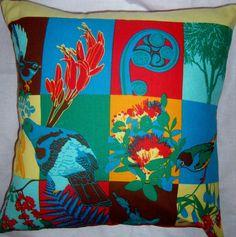 New Zealand motif Cushion by gonevuku on Etsy, $20.00