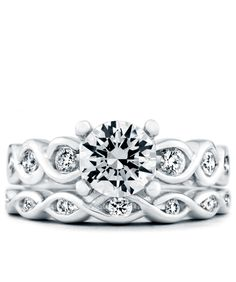 Forever Engagement Ring and Wedding Band - Mark Schneider Design