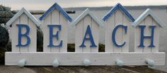 Rustic Five Hook Beach Sign Wall Hook