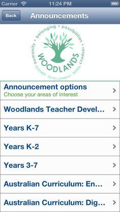 Woodlands Teacher Development School app for Australian Curriculum: English!
