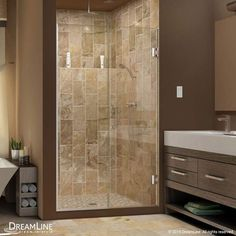 "DreamLine SHDR-245307210 Unidoor Plus 72"" High x 53-1/2"" Wide Hinged Frameless S"