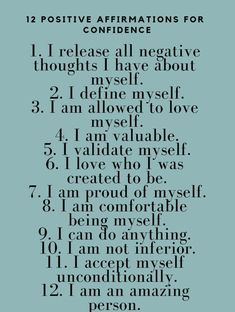 Build self-confidence with these 23 tips. Self-confidence equals self-love. Positive Affirmations Quotes, Self Love Affirmations, Morning Affirmations, Affirmation Quotes, Self Improvement Tips, Self Confidence, Self Esteem, Positive Thoughts, Self Help