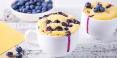 Sometimes you just need an easy treat that only takes a minute to cook and won't make the whole kitchen dirty- that's why mug cakes exist. Here's a twist using our sugar-free blueberry muffin mix. Great for breakfast or a late night treat! Sugar Free Blueberry Muffins, Blueberry Recipes, Blue Berry Muffins, Mug Cakes, Cake Mug, Muffin In A Mug, Muffin Mix, Snacks Sains, Salty Cake