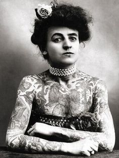 Maude Wagner, the first known female tattooist in the U.S., 1911