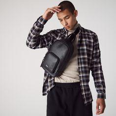 Free Online Shopping, Online Shopping Shoes, Shoes Online, Lacoste Men, Sling Backpack, Coat, Black Leather, Shoulder Bag, Bags
