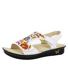 ba477f295275 Alegria Viki White Needles   Pins women s comfort sandal