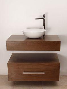 Resultado de imagen para vanitorys minimalistas pequeños Small Bathroom Sinks, Bathroom Basin, Modern Bathroom, Bathroom Interior, Home Interior, Wash Basin Cabinet, Washbasin Design, Pooja Room Design, Modern Sink