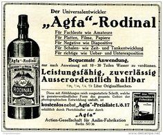 Original-Werbung/ Anzeige 1917 - AGFA RODINAL ENTWICKLER - ca. 155 x 120 mm