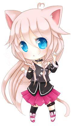 Neko and Chibi thats to Kawaii for me X. Anime Neko, Anime Kawaii, Kawaii Neko Girl, Chibi Kawaii, Chibi Girl, Cute Chibi, Kawaii Cute, Anime Art, Hatsune Miku