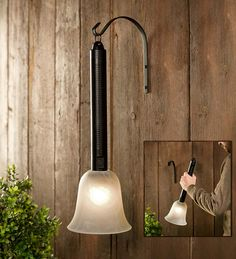 Wireless Outdoor Lantern/Torch Patio Light | Outdoor Lighting | Light the way with this convenient handheld light that's designed like a torch and performs like a high-tech lantern.