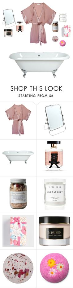 """Spa Day"" by elizzy1202 ❤ liked on Polyvore featuring beauty, Fleur du Mal, Child Of Wild, Victoria's Secret, Zoet Bathlatier, Herbivore, Cost Plus World Market and Alexander McQueen"