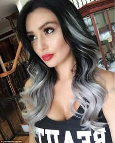 Snazzy: Jenni 'Jwoww' Farley decided it was time for a new, snazzy hairdo and on Firday she revealed her new look via Instragram, showing off her long dark locks with newly silver ends