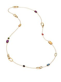 afc695e73 Marco Bicego Semi-Precious Multi-Stone & 18K Gold Long Station Necklace  Light