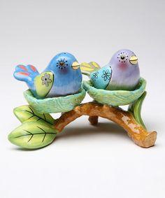 This Bird Nest Salt & Pepper Shaker & Votive Holder is perfect! #zulilyfinds