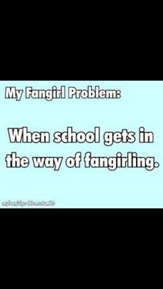 My Fangirl Problems: