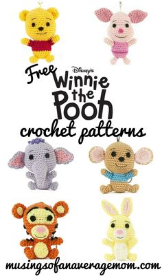Free Winnie the Pooh Crochet Patterns Free Winnie the Pooh Crochet Patterns,Häkeln u. Stricken Free Winnie the Pooh crochet patterns Related posts:all black jeans - fashion dressesDime qué tipo de chico te gusta y. Disney Crochet Patterns, Pokemon Crochet Pattern, Crochet Animal Patterns, Crochet Patterns Amigurumi, Stuffed Animal Patterns, Knitting Patterns, Crochet Pig, Cute Crochet, Crochet Crafts