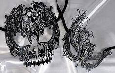 Lovers Men and Women Couple Masks Masquerade Ball Laser Cut Metal masks Masquerade Party Outfit, Couples Masquerade Masks, Venetian Masquerade Masks, Masquerade Wedding, Mens Masquerade Mask, Masquerade Dresses, Maskerade Outfit, Mascarade Mask, Laser Cut Metal