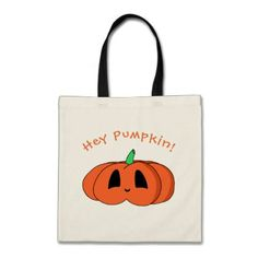 Squat Kawaii Pumpkin Cute Halloween Jack O'Lantern Tote Bag - diy cyo customize create your own personalize