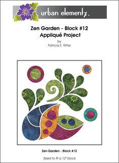 Zen Garden - Block #12 - Applique Pattern